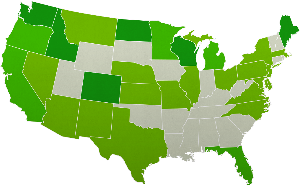US Growing Regions States Map